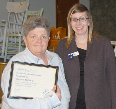 Alzheimer volunteers recognized